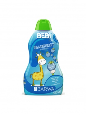 Szampon i płyn do kąpieli dla dzieci 2w1 Jagoda Bebi Kids 380 ml